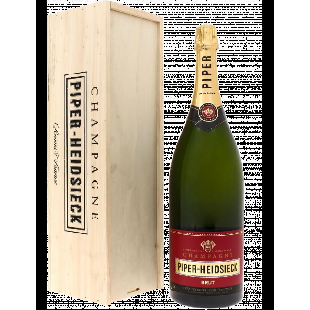 Champagne Piper-Heidsieck Brut in Cassa Legno Lt.3